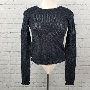 AMERICAN EAGLE | shiny knit long sleeve top